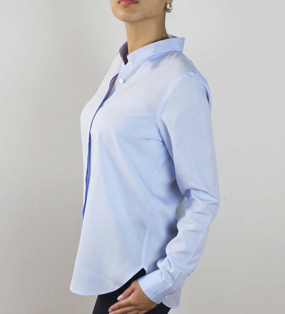 Tencel lysblå skjorte