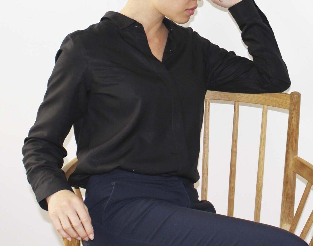 Tencel skjorte sort