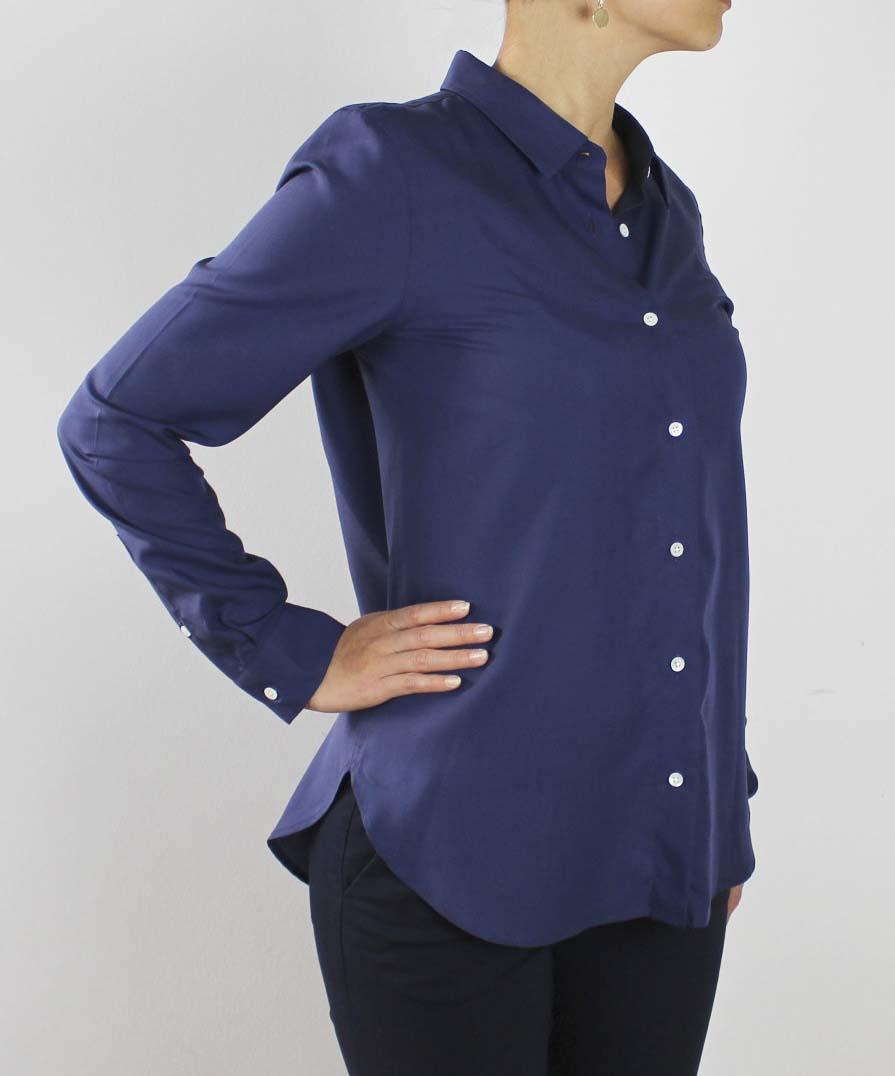 Tencel skjorte mørkeblå